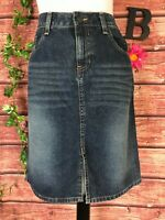 American Eagle Outfitters Denim Jean Skirt size 8 Straight Above Knee Slim Boho