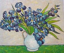 """Van Gogh reproductions  Hand painted on canvas - Irises - Size:24""""x20"""""""