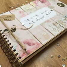 Personalised Memory Book/ Scrapbook/ Photo Album/ Guest Book/Any Message Printed