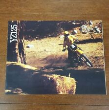 YAMAHA 1982 YZ125 ORIGINAL BROCHURE VINTAGE MOTOCROSS TWINSHOCK YZ125J SPECS