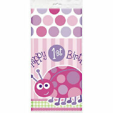 1st Birthday Ladybug Pink Tablecover Tablecloth 54 x 84