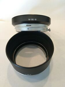 Canon W-60-B and T-80-2 Metal Lens Hood Canon