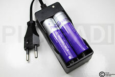 .CHARGEUR RX-77 + 2 PILES ACCU RECHARGEABLE 18650 3.7v 2400mAH BATTERY BATTERIE