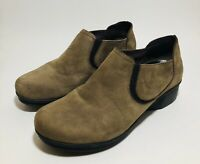 Dansko Lynn Wedge Clogs Brown Leather Comfort Shoes Womens Size 41 US 10.5 - 11