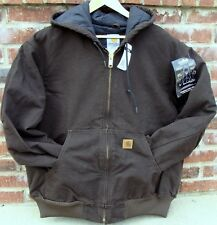 Carhartt J130 Flannel Lined Sandstone Active Jacket - Dark Brown - L