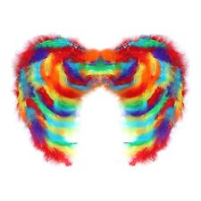Multicolour Rainbow Gay Pride LGBTQ Feathered Fancy Dress Costume Wings