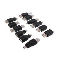 12x OTG USB 2.0 Adapter Set Stecker / Buchse Adapter Micro Mini USB