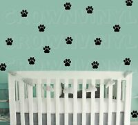 "Dog Paw Print Decals Pet Animal 1.5"" or  2.5"" Wall Window Floor Stickers Big Set"