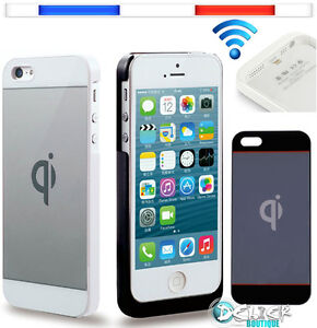 Coque Chargeur Sans Fil Qi pour Apple iPHONE 5/5S Samsung Galaxy S4 PAD Cable