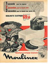 PUBLICITE  1966   MOULINEX   moulinette éléctrique