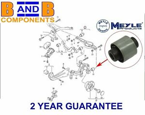 SEAT LEON REAR AXLE SUSPENSION CONTROL ARM LOWER BUSH MOUNT OUTER 1K0505553A A46