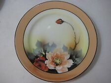 "Early 1900s Noritake Japan Art Nouveau Handpainted Plate, 7 1/2"" Diameter"