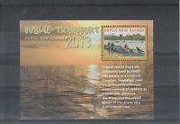 Papua New Guinea 2013 MNH Public Transport 1v Sheet Dugout Canoe Logs River