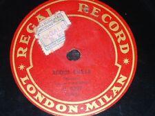OPERA 78 rpm RECORD Regal TENOR POGGIANTI SOPRANO TALAMO L´Acqua Cheta PETRI