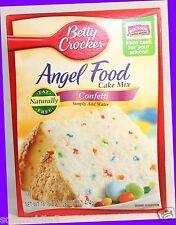 Betty Crocker ANGEL FOOD Cake Mix CONFETTI Naturally Fat Free - Simply Add Water