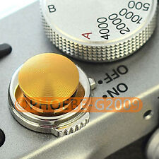Gold Metal Soft Release Button for Leica Contax Fujifilm X100 size:S