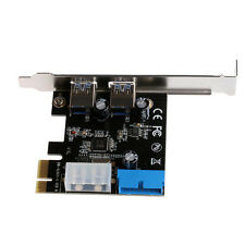 PCI Express USB 3.0 2 Ports Front Panel With Control Card Adapter 4-pin & 20 Pin