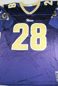 Men's New Reebok Los Angeles Rams Marshall Faulk Jersey Large 25 x 32