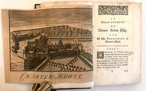 1737 Bearcroft HISTORY OF THOMAS SUTTON Foundation Charterhouse Plates
