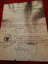 DIPLÔME POUR BLESSURES EN EXPÉDITION MEXIQUE GUERRE COLONIALE 1862-1863-REPRO