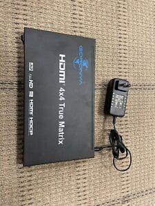 Goronya Ultra HD HDMI 4X4 True Matrix Switcher