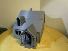 """(1) """" S """"  SCALE  TWO STORY BUNGALOW HOUSE  or  COTTAGE  3D  PRINTED  L@@K  1/64"""