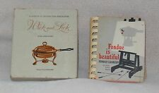 1954 Wick and Lick 1970 Fondue is Beautiful Index Recipe Cook Book Booklet Lot 2