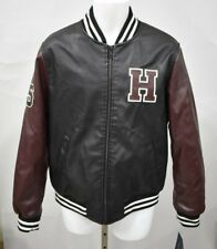TOMMY HILFIGER Size XL Burgundy/Black Faux Leather...