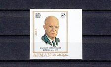 Ajman, Mi cat. 785 B. Pres. Eisenhower, IMPERF value from Zodiac set.