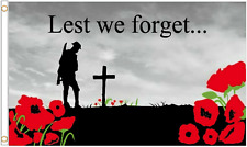 Lest We Forget Remembrance Polyester Flag - Choice of Sizes