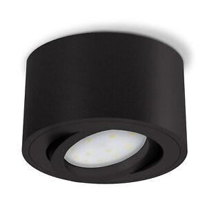 CELI-1BM Aufbaustrahler schwenkbar flach mit LED 5W warmweiß 230V Spot schwarz