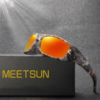 Polarized Sunglasses for Men Retro Mirrored Driving Outdoor Goggle Sun Glasses