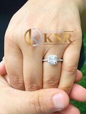 14k White Gold Cushion Forever One Moissanite Diamonds Engagement Ring 1.80ctw