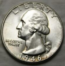 United States 1946-P Washington Silver 25 Cents, Choice Brilliant Uncirculated