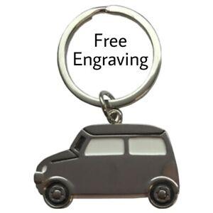 Personalised Mini Car Keyring | Engraved Message | Gift Bag | new car owner