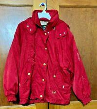 Womens DESCENTE Retro RED SKI JACKET Size 6 & PANTS Size 4