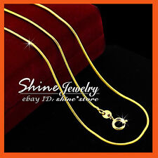 24K YELLOW GOLD FILLED SNAKE CHAIN for pendant LADY GIRLS SOLID NECKLACE 45/50CM