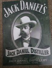 JACK DANIELS KITCHEN BAR VINTAGE LOOK SIGN - BLACK AND WHITE