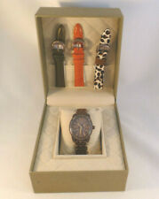 New Judith Ripka Designer Madison Choco Tone Watch  with Interchangeable Bands