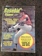 August 1974 Gaylord Perry Cleveland Indians Baseball Digest Magazine Mlb Vintage