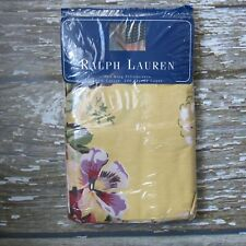 Vintage RALPH LAUREN Brooke Set of 2 Pillowcases King Yellow Floral NEW