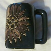 Design By Mara Sunflower Hand Thrown Pottery Coffee Mug Mexico