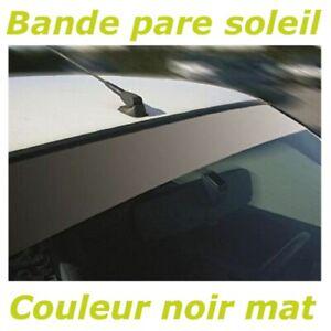 Bande Pare soleil Noir mat Sticker autocollant Pare brise Bandeau - 288