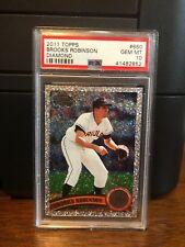 2011 Topps Diamond Anniversary Brooks Robinson Baseball Card #660 PSA 10 POP 2