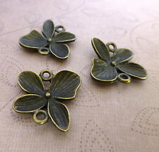pack of 10 - Antique Bronze Floral Connectors / Links