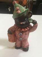 Vintage Halloween TRICK OR TREATER Bear Clown Ceramic Masked Provincial Mold 86