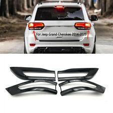 For 2014-2020 Jeep Grand Cherokee Gloss Black Tail Light Trim Bezel Kit (Fits: Jeep)