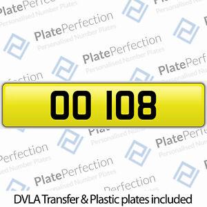 OO 108 PRESTIGE DATELESS REGISTRATION CHERISHED PRIVATE NUMBER PLATE DVLA