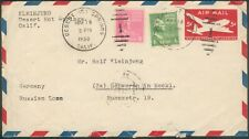 USA orig. Letter/Cover 15Cent Dessert Springs 18.5.1950 to East German Schwerin