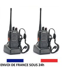 2x TALKIE WALKIE pro double bande 888s UHF 400-470mhz 16canaux BAOFENG